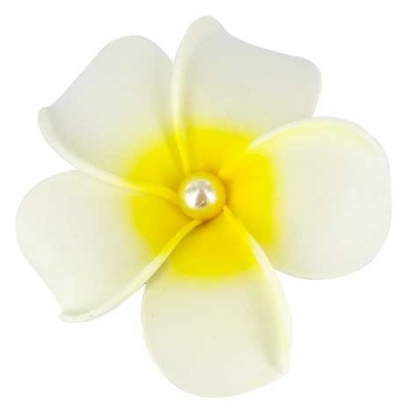 Large-Frangipani-flower-Hair Clip-with-pearl